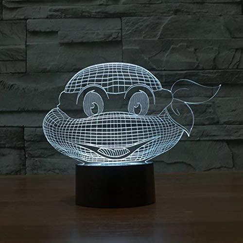 Creativo animal marino tortuga 3D lámpara de mesa multicolor acrílico LED luz nocturna decoración habitación de los niños regalo