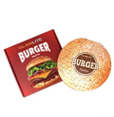 Glamlite Cosmetics Burger Makeup Palette! 16 Shades Eyeshadow Palette with Unique Burger Design! Perfect Holiday Christmas Gift! It comes with 16 different shades, all of which are named after beloved burger toppings and sides. The burger-inspired pa...