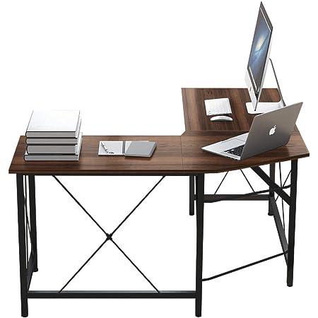 AZ L1 Life Concept L-Shaped Desks for Home Office - Corner Computer Desk Writing Table Workstation - Sturdy Gaming Desk PC Laptop Dark Brown