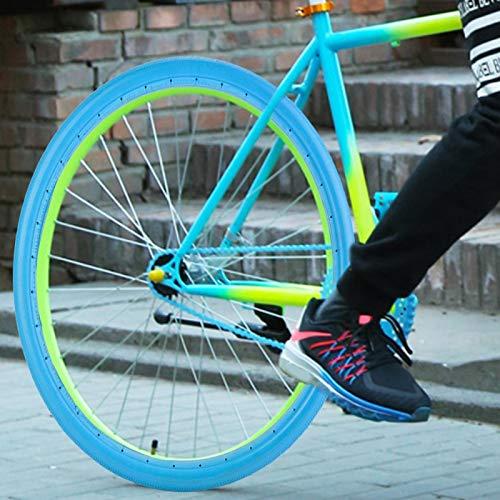 01 Neumático de Bicicleta, Accesorio de Silicona para Bicicleta de montaña, Tubo sólido Duradero a Prueba de explosiones 700 x 23C para MTB para Bicicletas de Carretera(700 * 23 Blue)