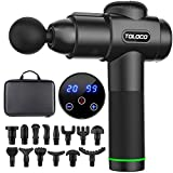 TOLOCO Massage Gun, Upgrade Percussion Muscle Massage Gun for Athletes, Handheld Deep Tissue Massager, Black