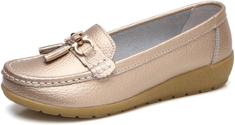 Minibee Women's Casual Tassel Loafers Slip On Nurse shoes Driving Flat