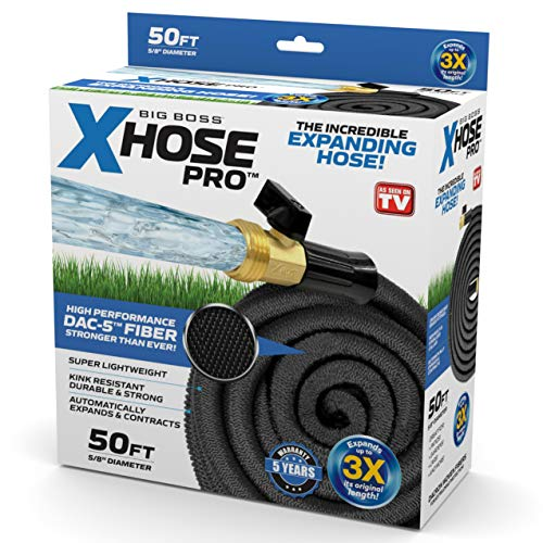Xhose Pro DAC-5 High Performance Lightweight Expandable Garden Hose with Brass Fittings (50 Feet)