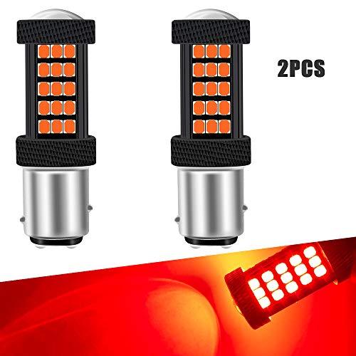 2 Unids Rojo 1157 BAY15D Coche LED Bombillas de Freno Canbus 63 SMD 2835 Super Brillante Lámpara de Freno para Camión Remolque 12 V
