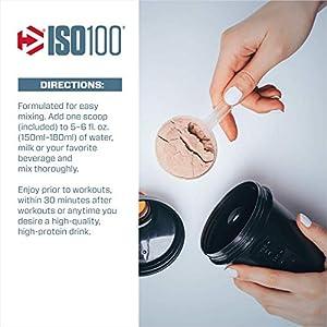 Dymatize ISO 100 Whey Protein Powder with 25g of Hydrolyzed 100% Whey Isolate, Vanilla 5 Pound