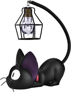 SANON Luz de Noche de Gato para Niños Servicio de Entrega Lindo Artesanía de Resina Negra Juguetes de Gatos Lámpara de Escritorio para Niños Regalo de Cumpleaños Decoración Del
