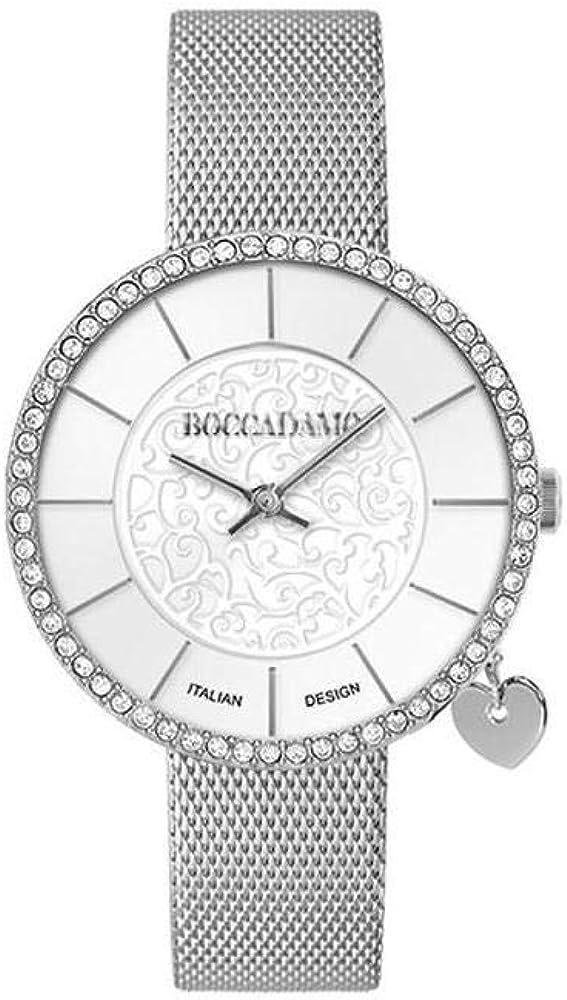 Boccadamo,orologio da donna,in acciaio e cristalli swarovski, MX009