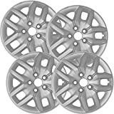 17 inch Hubcaps Best for 2013-2017 Dodge Journey - (Set of 4) Wheel Covers 17in Hub Caps Silver Rim Cover - Car Accessories for 17 inch Wheels - Bolt On Hubcap, Auto Tire Replacement Exterior Cap
