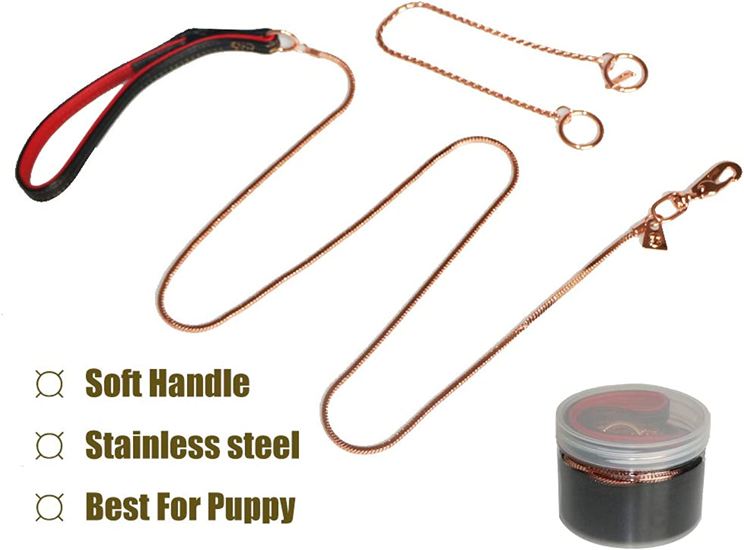 Jomilly Dog Leash, Strong and Durable Traditional Style Leash with Easy to Use Collar Hook