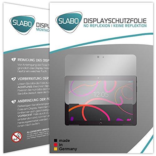 Slabo 2 x Bildschirmschutzfolie BQ Aquaris M10 Bildschirmschutz Schutzfolie Folie No Reflexion|Keine Reflektion MATT - Entspiegelnd Made IN Germany