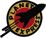Futurama Planet Express Iron Sew On Embroidered Patch Badge Costume Fancy Dress Approx:4.4'/10.5cm x Approx: 3'/7.5 cm