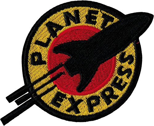 """Futurama Planet Express Iron Sew On Embroidered Patch Badge Costume Fancy DressApprox:4.4""""/10.5cm x Approx: 3""""/7.5cm by MNC Shop"""