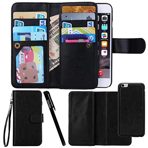 Urvoix For Apple iPhone 6 Plus / 6S Plus (5.5''), Wallet Leather Flip Card Holder Case, 2 in 1 Detachable Magnetic Back Cover iPhone6 Plus / iPhone6S Plus (NOT for iphone6)