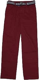 Ralph Lauren Polo Boys Stretch Chino Pants & Belt (Wine, 12)