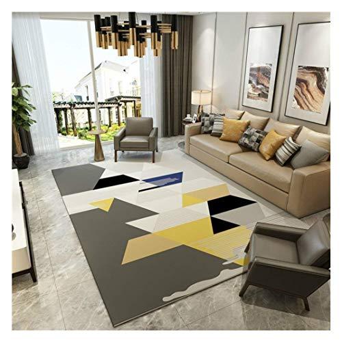 GEDTFC Tapis rectangulaire Simplicité Moderne Géométrique Maison Salon Canapé Salle Polyvalente Salle d'étude Chambre Tapis de Chevet Yoga Mat (Size : 160cm*230cm)
