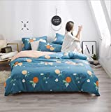 IRCATH Hypoallergen - Baumwolle Schleifen vierteilige einfache Bettlaken, Bett vierteilige Baumwolle Sunshine Nachmittag-1,2 m Bett 4 Vier Sätze
