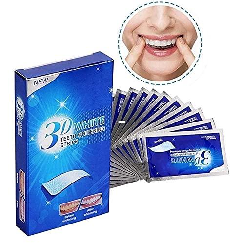 3Dホワイトニングクレスト歯ホワイトニングストリップ大人用マウスガードは持ち運びが簡単です(1箱14セット) (サイズ : 5 boxes(70pcs))