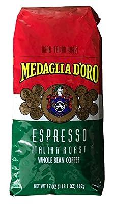 Medaglia D'Oro Whole Bean Italian Roast Espresso Coffee, 17 Ounce by Medaglia D'Oro