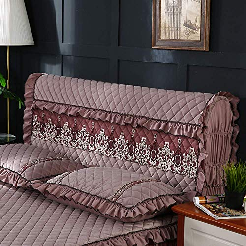 ZXLRH Headboard Slipcover for King/Queen/Twin Bed,Solid Color Dustproof Cover Suitable for All Kinds of Worn and Hard Bed Heads,Washable