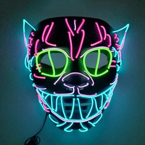 TGSM Halloween LED leuchten Karnevalsmaske Neon Maska Party niedlichen Elvis Kinderspielzeug Europa und Amerika Stil Make-up Masken