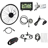 Schuck 36V 48V 500W 16''/20'/24'/26'/27.5'/28'/29'/700C Front Wheel Electric Bicycle Conversion Motor Kit E-Bike Cycling with Brushless Hub Motor with LCD3 Display