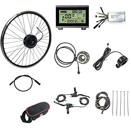 Schuck 36V 48V 500W 16''/20'/24'/26'/27.5'/28'/29'/700C Front Wheel Electric Bicycle Conversion...