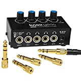 Knox Compact 4-Channel Stereo Headphone Amplifier with DC 12V Power Adapter