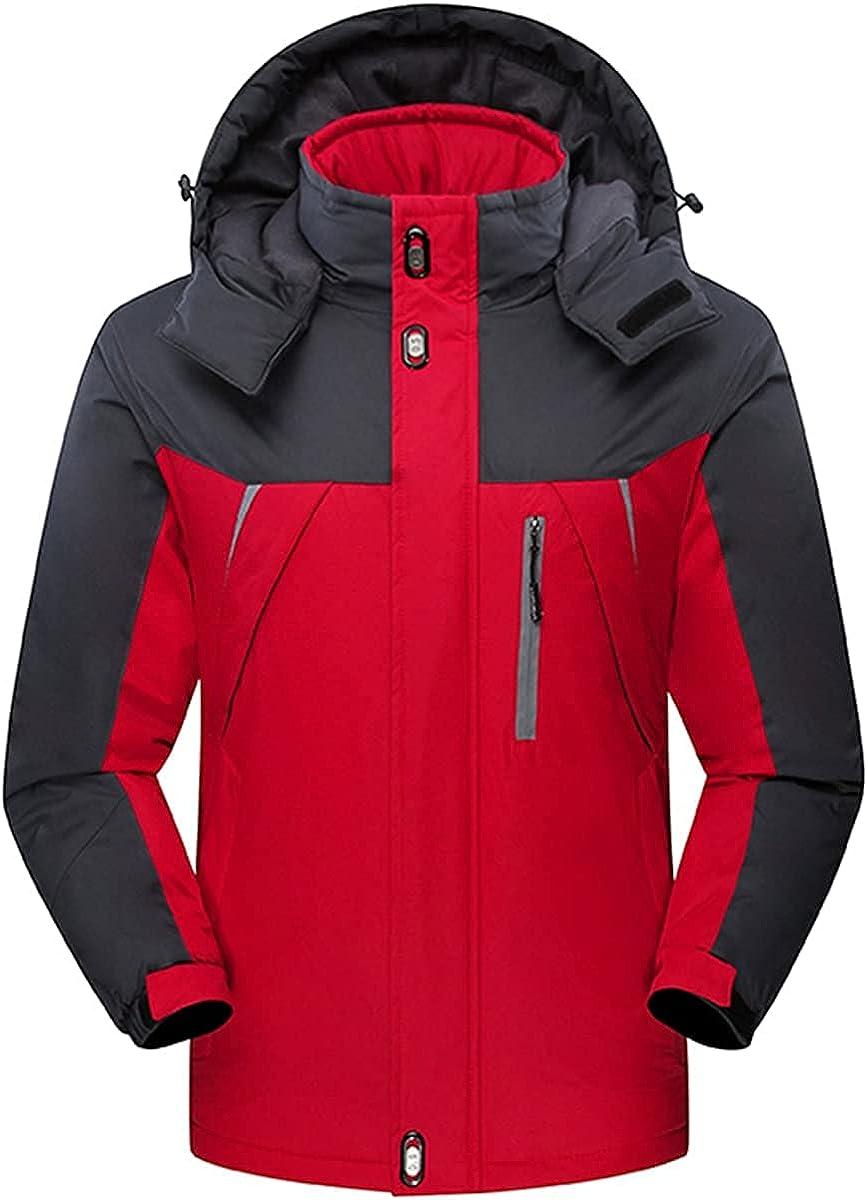 VANDIMI Winter Jackets for Men with Hood Zipper Mens Fashion Outdoor Coats