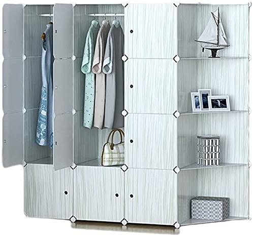 Armadio Camera da Letto plastica Easy Assembly Storage Cabinet Deposito Organizzatore Adulto Combinazione Adulto Guardaroba Scaffale UOMUN