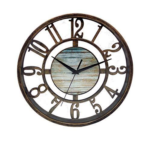 1a-Handelsagentur Reloj de pared (metal, 27,5 cm), color bronce