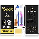Yodoit Batería para iPhone 6S 2800mAh bateria Recambio, Aumento del 63% de la Capacidad de la batería Reemplazo de Alta Capacidad Batería con Kits de Herramientas de reparación