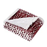 Eddie Bauer Ultra-Plush Collection Throw Blanket-Reversible Sherpa Fleece Cover, Soft & Cozy, Perfect for Bed or Couch, San Juan Red Clay