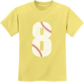 Tstars - 8th Birthday Gift for Eight Year Old Baseball Fan Youth Kids T-Shirt