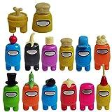 12 PCS Among Us figuras de acción Mini juguetes lindos de figuras de acción Juego PVC Modelo coleccionable Figura de acción Muñeca de dibujos animados para niños Fans Casa Pastel Decoración de coche