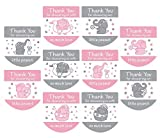Set of 120 Baby Shower Favor Labels Mini Bottle Labels Hand Sanitizer Labels-Thank You Stickers for Baby Shower Favors(Pink)
