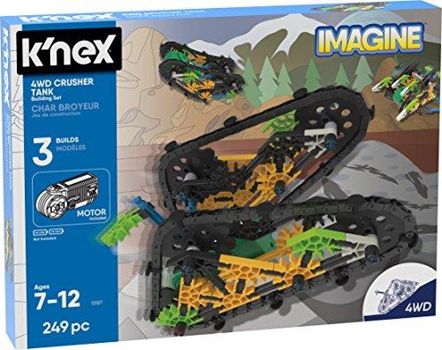 K'nex 13127 Imagine, 4WD Crusher Tank Building Set, Edades 7 +, Juguete...