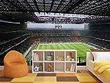 Fotomural Vinilo para Pared Motivo Deportivo Estadio de Fútbol | Fotomural para Paredes | Mural | Vinilo Decorativo | Varias Medidas 200 x 150 cm | Decoración comedores, Salones, Habitaciones.