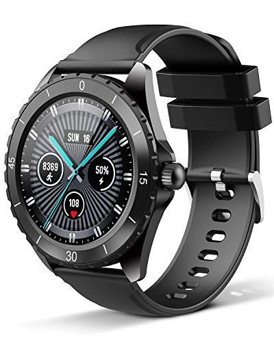ELEGIANT Smartwatch, Fitness Tracker Für Damen Herren, Fitness Armband Sportuhr 1,3-Zoll-Touchscreen, Pulsmesser, Schlafmonitor 24 Sportmodi, Anruf Alarm Schrittzähler, Aktivitätstracker iOS Android