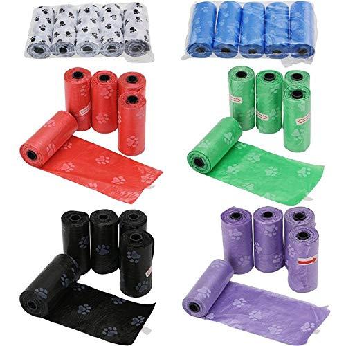 SHAOLIN 30 Rollen / 450 Stück Hundemist-Auffangbeutel, Haustierdung-Auffangbeutel, biologisch abbaubarer Reinigungsbeutel, Hundemist-Auffangbeutel