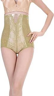 COMVIP Women's Lace Tummy Control Seamless Underwear High Waist Brief
