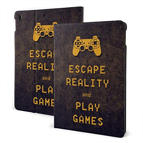 Ipad Pro 10.5 Case 2017/10.5 Inch Ipad Air Case 3rd Gen 2019 Escape Reality Keep Calm and Play Games Pu Leather Smart Cover TPU Protective Shell Cover Auto Sleep/Wake Protector