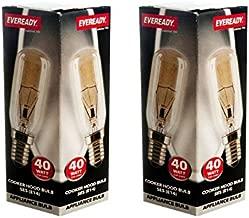 2 x Eveready Cooker Hood Lamp Bulb 40W SES E14 1000 Hour 220v-240v