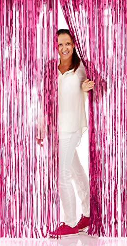 NEU Türvorhang Lametta Folien-Schimmer Pink, 1m x 2m