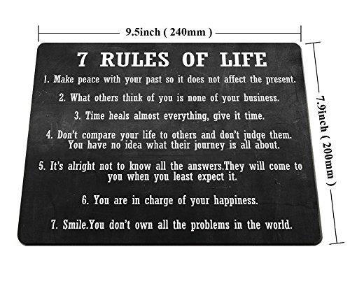 Smooffly Gaming Mouse Pad Custom,7 Rules of Life Motivational Inspirational Personality Desings Gaming Mouse Pad Photo #4