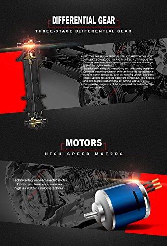 RC Truggy kaufen Truggy Bild 1: SUBOTECH BG1510 LYL Ferngesteuerte Autos f r Draussen, RC Auto Elektrisch 4WD 1 24 RTR 40km h, 2 4ghz, Orange*