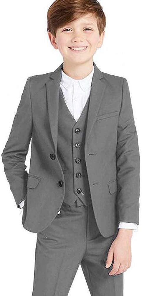 最安値挑戦 Classic 3 返品交換不可 Piece Formal Boys Suits Set Boy Fit Dresswear Sui Silm