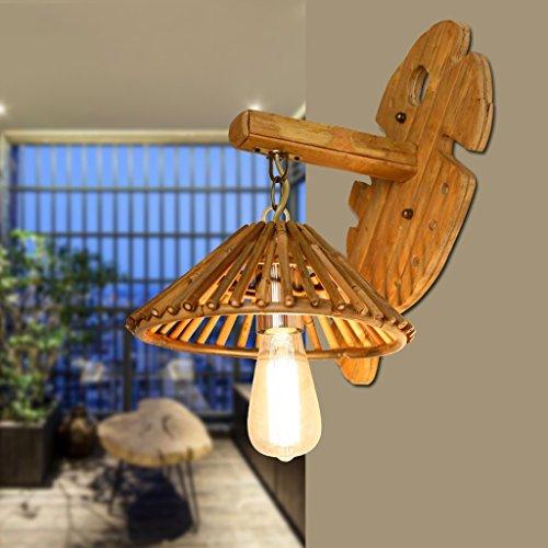 KUN PENG SHOP Lumière murale antique chinoise Créative Bamboo Restaurant Holiday Light Modélisation simple Bamboo Light A+