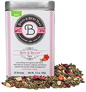 Birds & Bees Teas - Red Raspberry Leaf Tea, Ripe & Ready Organic Third Trimester Tea to Prepare Your Body for Labor and Bi...