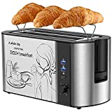 Tostapane per Toast Farciti, Tostapane 4 Fette, Tostapane con Grill, 6 Tipi di Bancarelle per...