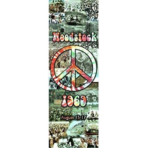 Buyartforless Woodstock Peace Collage August 15-17 1969 36x12 Art Print Poster Hippie Music Made in The USA